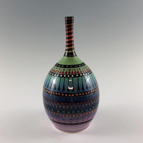 Multi Stripe Vase