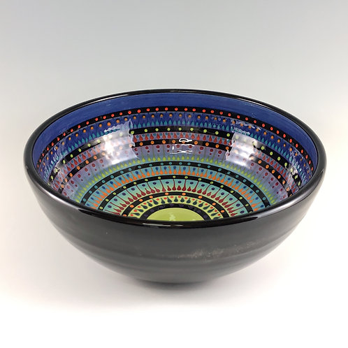 "10"" Multi Stripe Bowl"