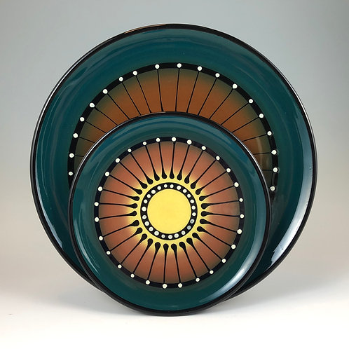 Black Stripe Plate Style #10