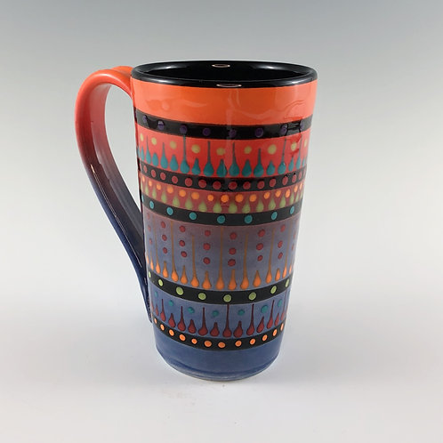 Multi Stripe Tall Mug