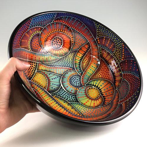 """12"""" Crazy Carved Bowl"""