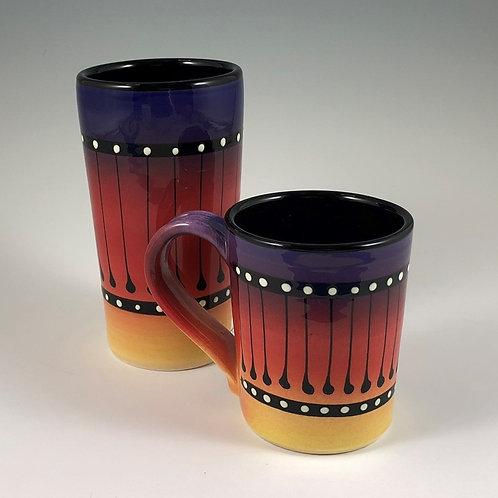 Black Stripe Mug or Tumbler Style #6