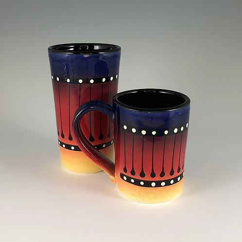 Black Stripe Mug or Tumbler Style #1