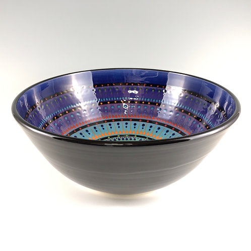 "12"" Multi Stripe Bowl"