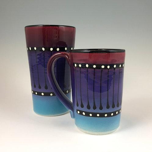 Black Stripe Mug or Tumbler Style #7