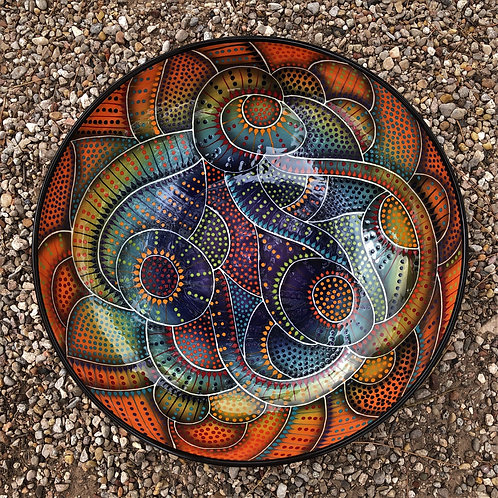 """15"""" Crazy Carved Shallow Bowl"""