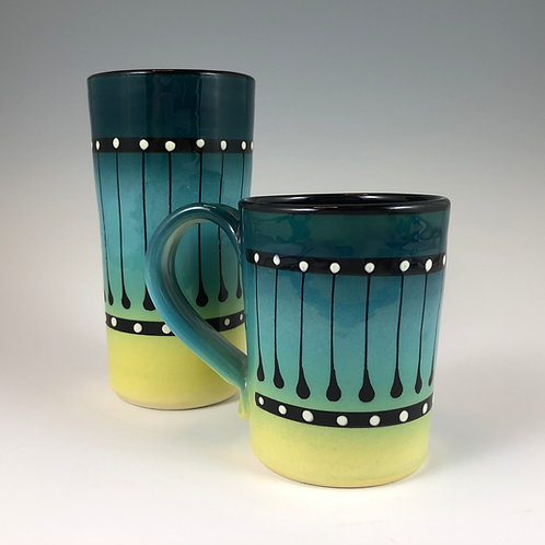 Black Stripe Mug or Tumbler Style #9