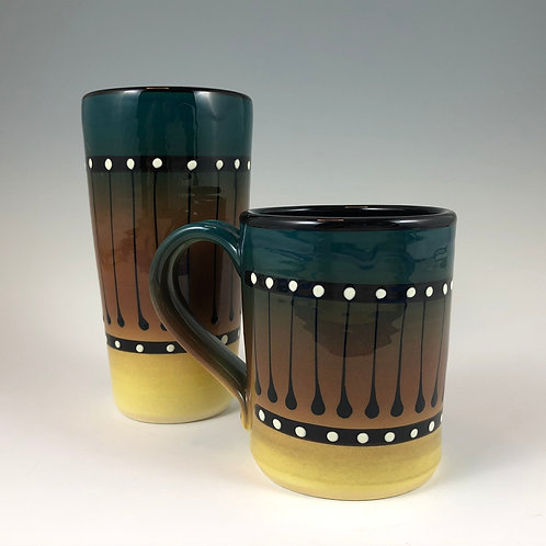 Black Stripe Mug or Tumbler Style #10