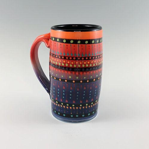 Multi Stripe Beer Mug