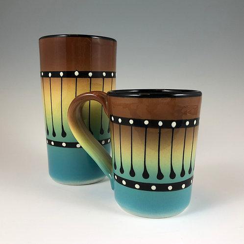 Black Stripe Mug or Tumbler Style #8