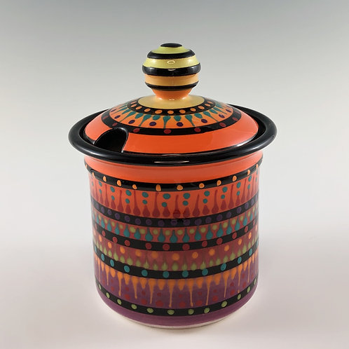 Multistripe Honey/Sugar Jar