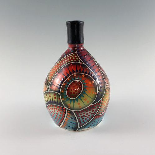 Crazy Carved Bottle/Vase
