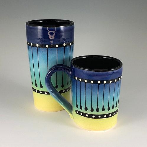 Black Stripe Mug or Tumbler Style #3