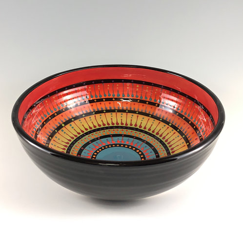 "10"" Multi Stripe Bowl"