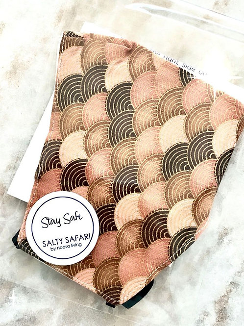 Brown Morocco Face Mask