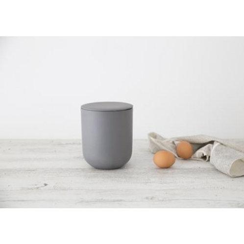 Flax Jar w Lid charcoal