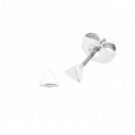 Silver Petite Tri Earring