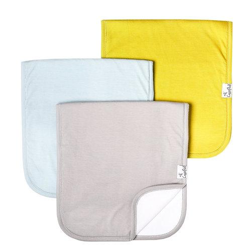 Burp Cloth 3Pk - Stone
