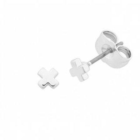 Silver Petite Cross Earring