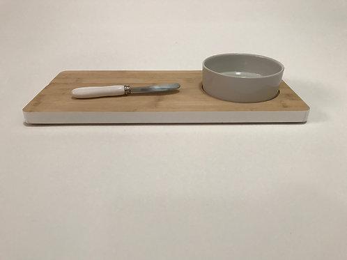Bamboo & Ceramic Bowl Set