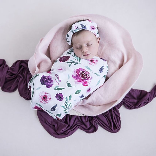 Swaddle Set - Peony Bloom