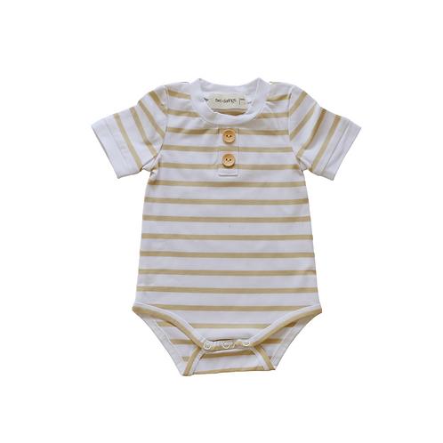 Gold Stripe Basic Bodysuit