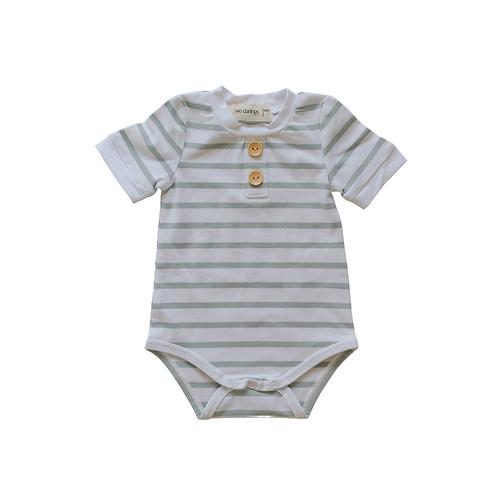 Seafoam Stripe Basic Bodysuit