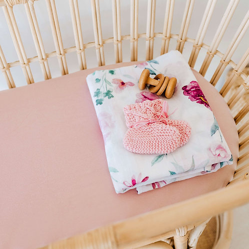 Bassinet/Change Pad Cover - Lullaby Pink