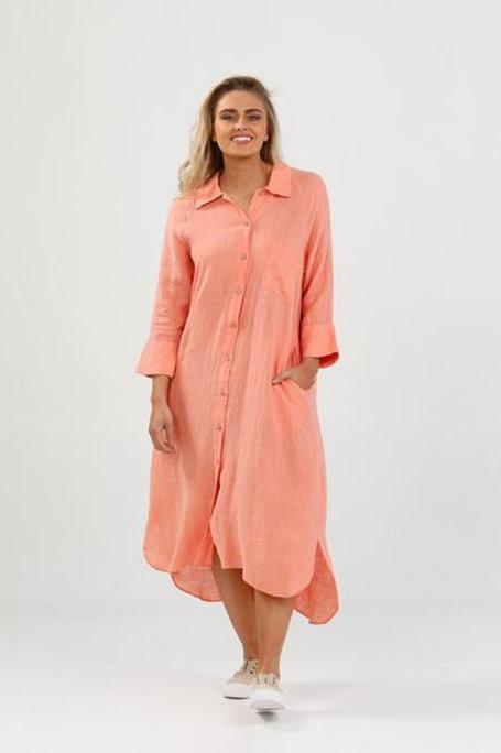 Linen 3/4 Sleeve Dress