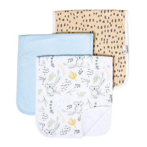 Burp Cloth 3Pk - Aussie