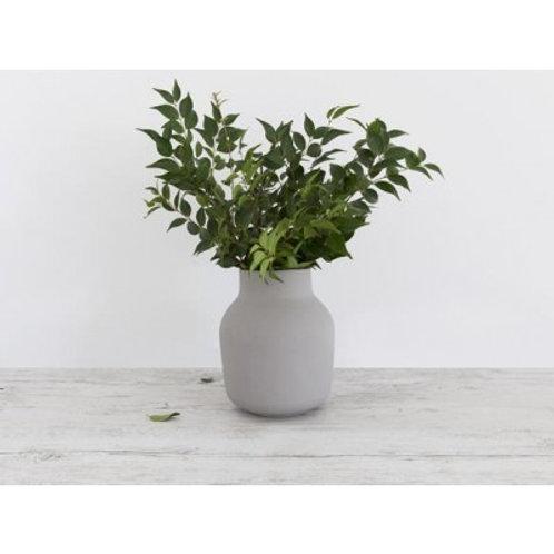 Flax Tub Vase-black/grey