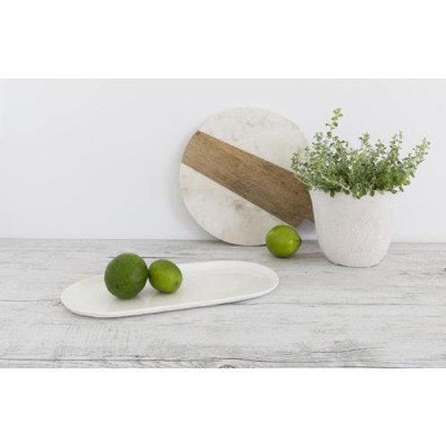 Flax Linen Oval Plate