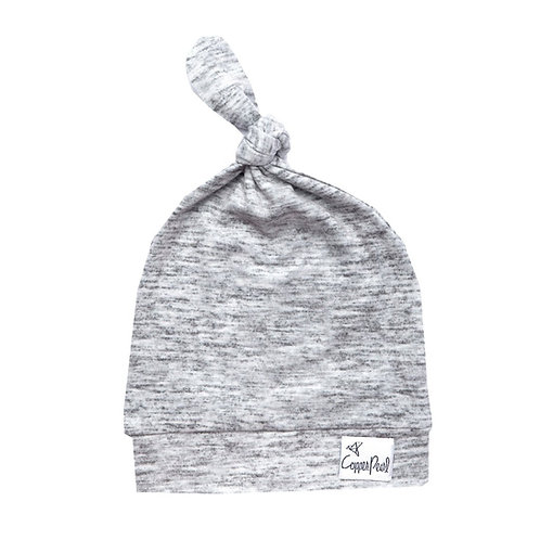 Top Knot Hat Grey