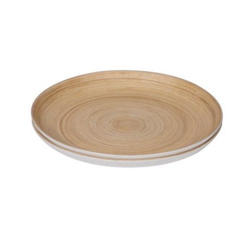 Serving Platter white/bamboo