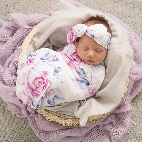 Swaddle Wrap Set - Lilac Skies