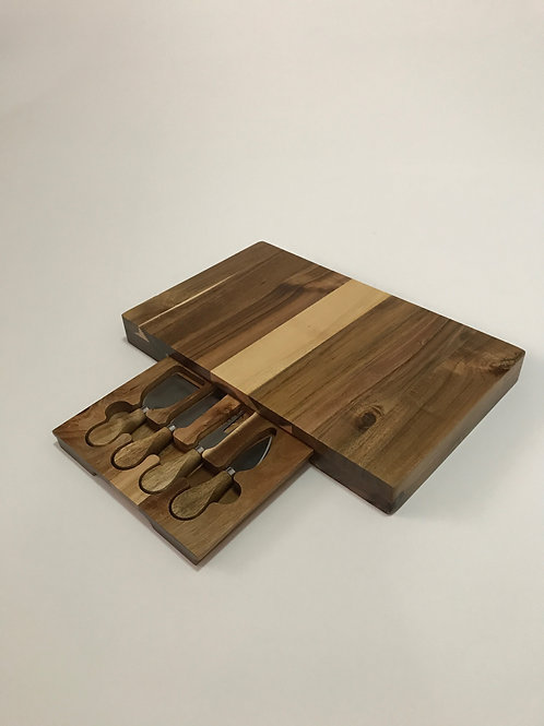 Rectangle Cheese Board w Knives