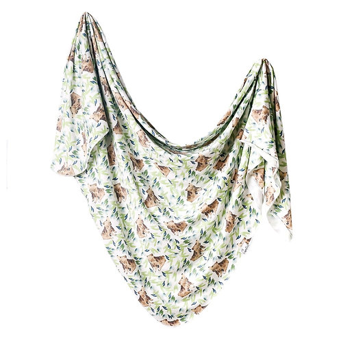 Knit Swaddle Blanket Bear
