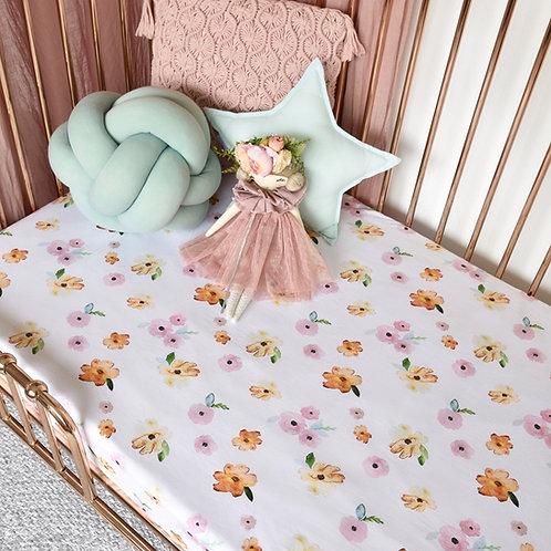 Cot Sheets - Poppy