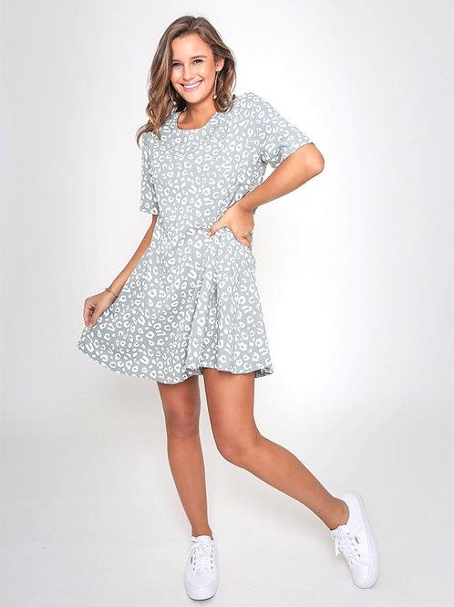 Leopard Dress Olive