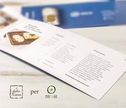 Brochure con ricetta