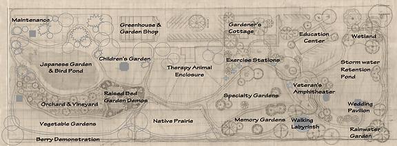Map of Health Haven Botanical Gardens