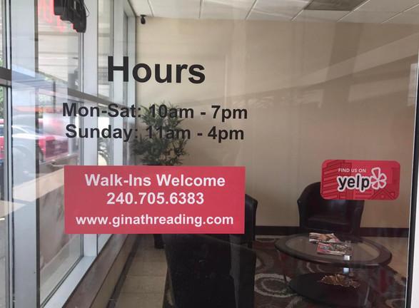 Gina Eyebrow Threading Hours