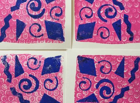 Radial Gelli™ Prints