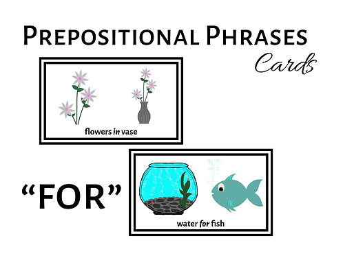 "Expanding Utterances with ""FOR"" Prepositional Phrases"