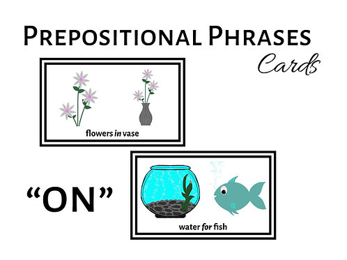 """Expanding Utterances with """"ON"""" Prepositional Phrases"""