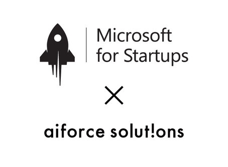 【New Release】aiforce solutionsがマイクロソフト コーポレーションの支援プログラムMicrosoft for Startupsに採択