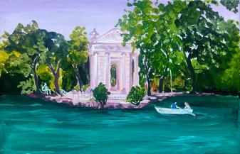 The lake at villa borghese