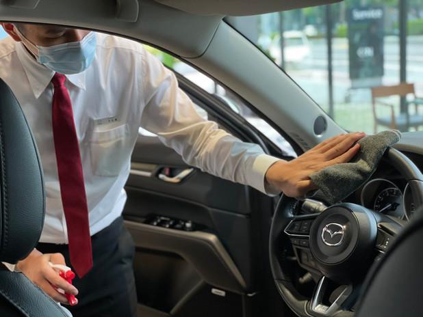 展示車、試乘車、代步車定期消毒