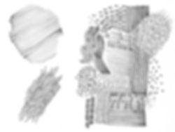 Silja Levälampi, kaktus pattern illustrations and scetches