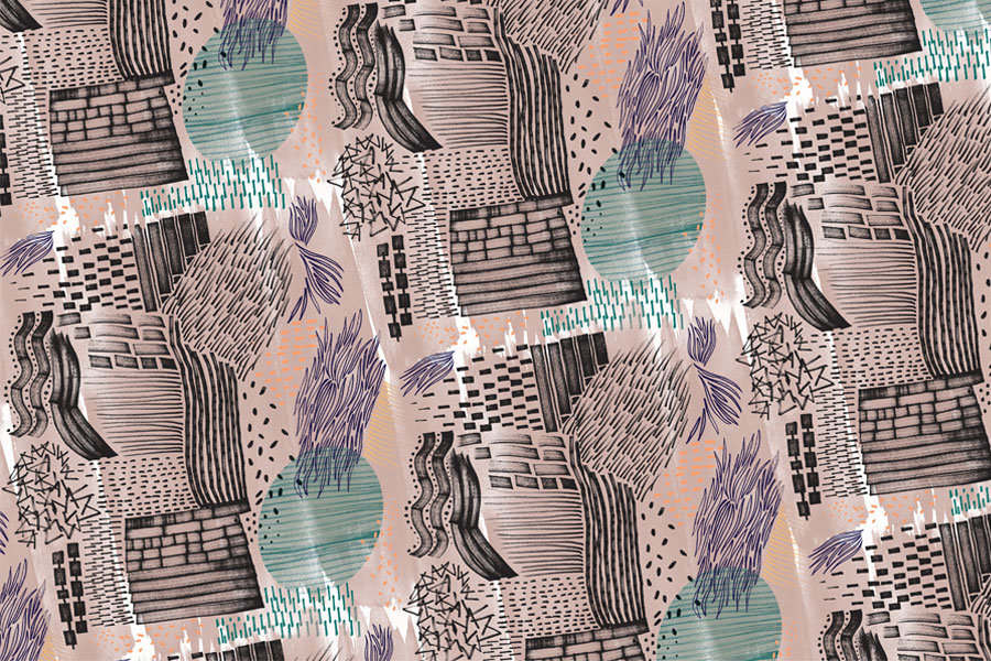 Silja Levälampi, Kaktus pattern finished with photoshop